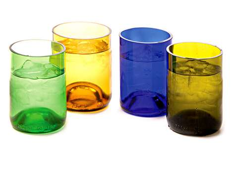 Recycled Wine Bottle Cups