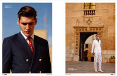 Debonair Traveller Portraits - The Isaac Carew Elle Men China Fashion Feature is Retro Infused