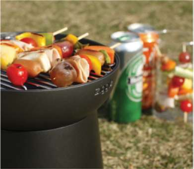 Barbecuing Lunch Boxes - The Compact Ziggle All-in-One Grill Can Carry and Cook Your al Fresco Meal