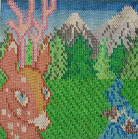 Deceptive Knitted Paintings