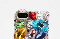 Mobile Opulence Accessories - The Bejeweled iPhone 5 Case from Urban Outfitters Makes a Statement