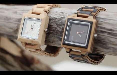 Sleek Lumber Timepieces