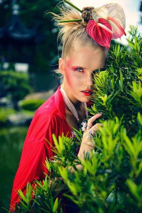 "Quirky Floral Editorials - The Benny Tan ""Oriental Princess Warrior"" Photoshoot is Vibra"