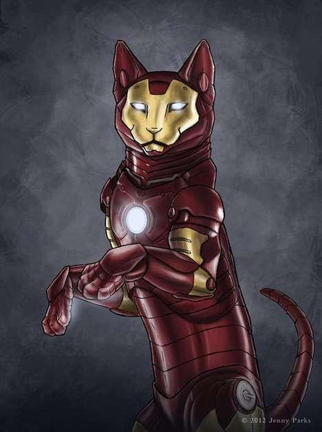 Superhero Feline Makeovers
