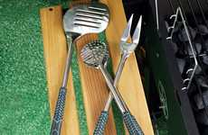 Golf-Inspired Barbecue Utensils - Practise Your Swing While You Grill for Your Family and Friends