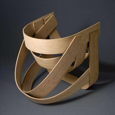 Curvilinear Wood Strip Seating