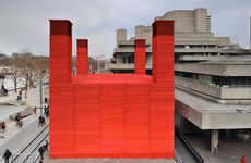 Minimalist Castle Structures - The Shed at the National Theatre by Haworth Tompkins is Crimson-Clad