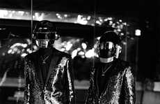 Galactic Musician Portrayals - The Daft Punk CR Fashion Book Editorial Blends Disco and Sci-Fi