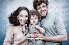 Parent Snubbing Campaigns - The 'Ugly Parents, Beautiful Kids' Ads Contrast Adorable with Foul