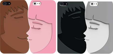 Sweetheart Smartphone Sheaths - The OZAKI O! Coat Lover Case Features a Kissing Couple