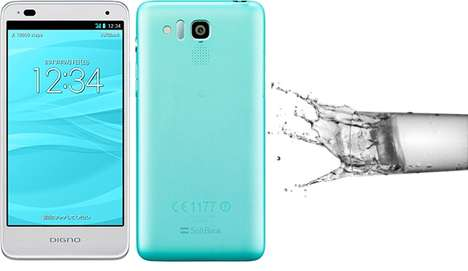 Lightweight Waterproof Smartphones - The Kyocera DIGNO R is Feature-Rich and is Ultra Resilient