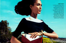 Stunningly Sun-Drenched Spreads - Joan Smalls by Camilla Akrans for Vogue US Exudes Heat