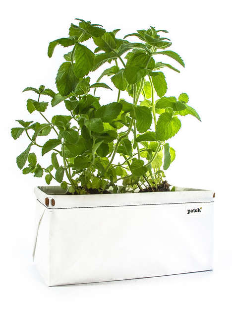 Self-Watering Eco-Planters - Let's Patch Allows You to Grow Herbs Easily in Your Own Home