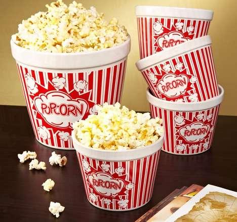 Vintage Movie Popcorn Bowls