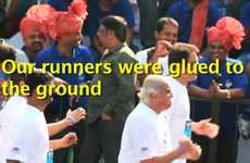 Joke Jogging Publicity Stunts - Fevicol's Simple Marketing Campaign Stages Runners Stuck in Pl