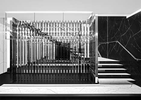 Monochromatic Marble Retailers - The New Flagship Saint Laurent Paris Store Pushes Brand Identity