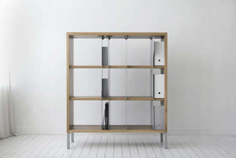 File Folder-Inspired Shelves