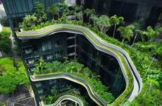 Stratified Garden Hotels - The Parkroyal Singapore by Woha Architects is Luxuriously Lush