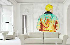 Abstract Movie Slap-On Murals - PIXERS' Cinema Wallpaper Designs Go Perfectly in Any Room