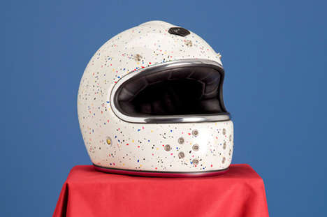 Stylishly Speckled Helmets