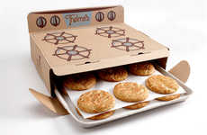 Stovetop-Inspired Cookie Boxes - Thelma's Treats Cookie Packaging Design Opens Like an Oven