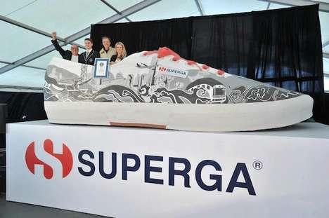 Gigantic Record Breaking Sneakers
