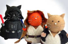 Chubby Sci-Fi Feline Cushions - These Star Wars Cat Pincushions are Great for Sci-Fi Sewing Needs