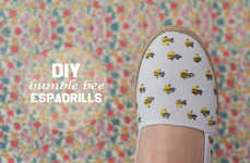 DIY Buzzworthy Shoe Accents - This Simple Activity Turns a Pair of Flats into a Summery Design