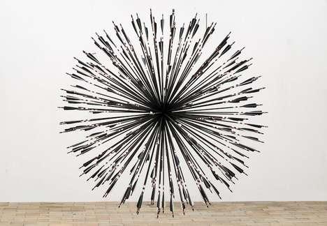 Converging Arrow Sculptures