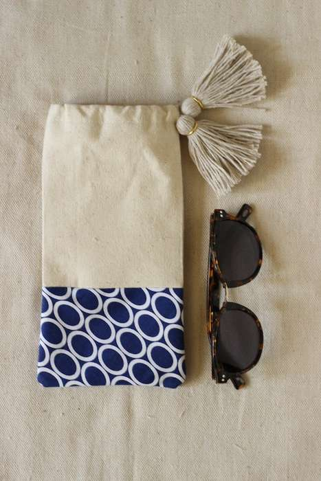 Frilly DIY Sunglass Pouches