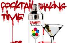 Graffiti Cocktail Mixers - These Martini Shakers Look Just Like a Spray Paint Can
