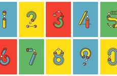 Playfully Assembling Digits - Jamie Tatalab Designs Game-Like Numbers for Yorokobu Magazine