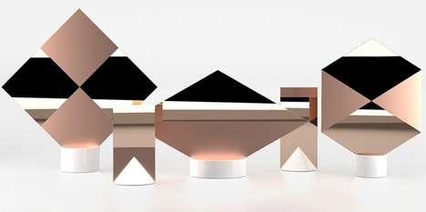 Metallic Multifaceted Reflectors