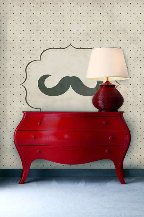 Manly Motif Wall Decals - Mustache Wall Murals from PIXERS Add Masculinity to Your Interior