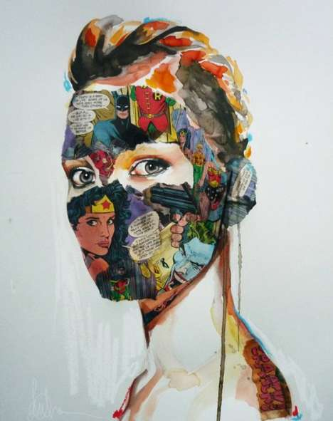 Comic Book Collage Portraits