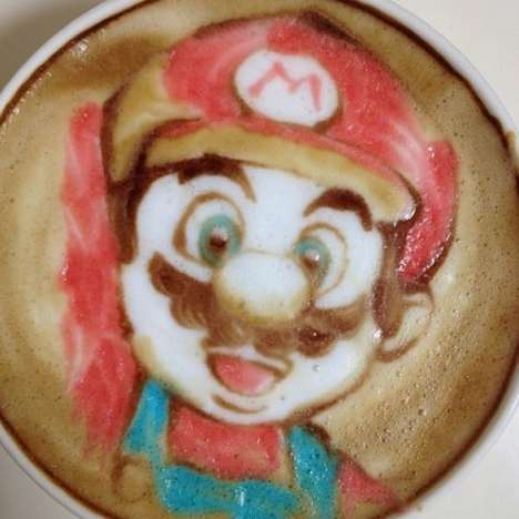 Colored Pop Culture Coffee Art
