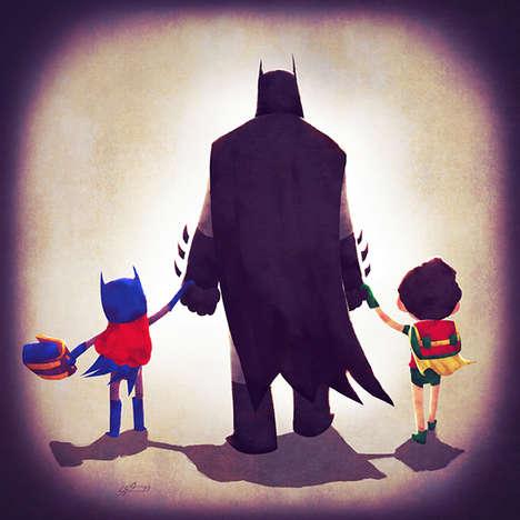 Paternal Super Hero Depictions