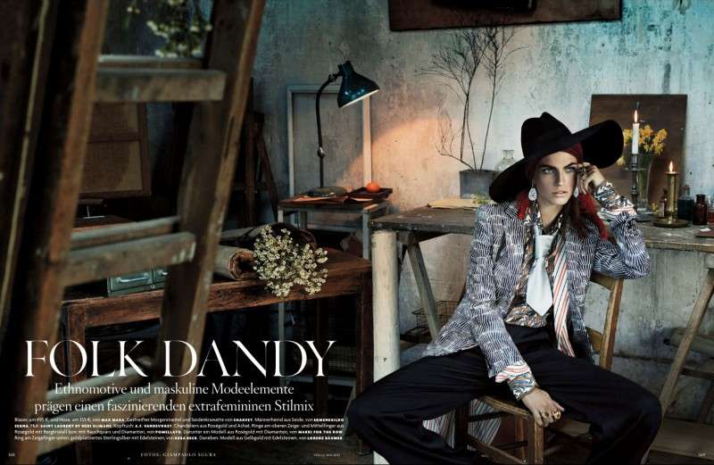 Eclectically Layered Fashion Vogue Germany Folk Dandy