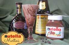 Hazelnut Chocolate Cocktails - The Nutella Martini by Lisa Douglas is a Drinkable Dessert