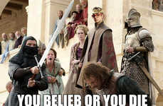 Fantasy Character Mashup Blogs - Joffrey Bieber Blog Hilariously Combines Two Controversial People