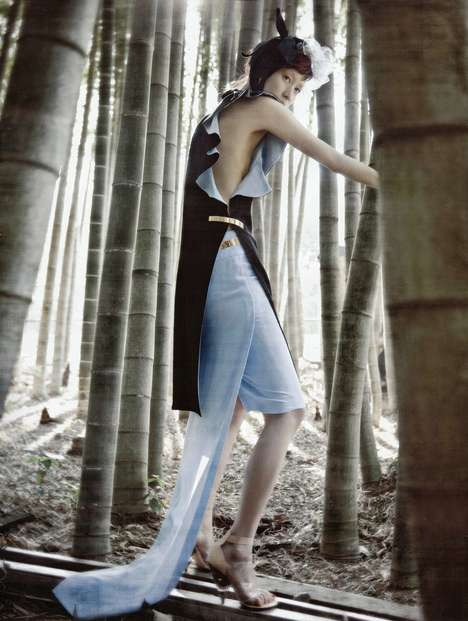 Vogue Korea's 'Forest of Flounce' Spread Combines Nature and the City