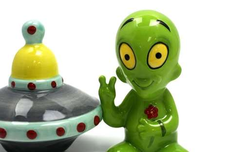 Galactic Spice Shakers - These Martial Novelty Salt and Pepper Shakers are for the Space Fanatic
