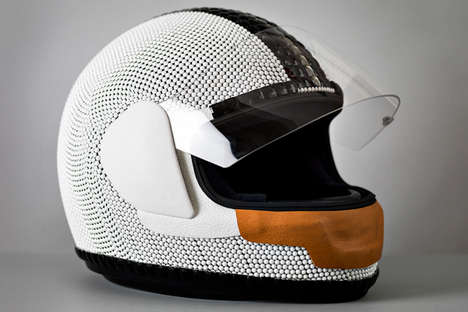 Crystal-Encrusted Head Protectors - The Tim Coppens Swarovski Helmet Luxuriously Avoids Brain Damage