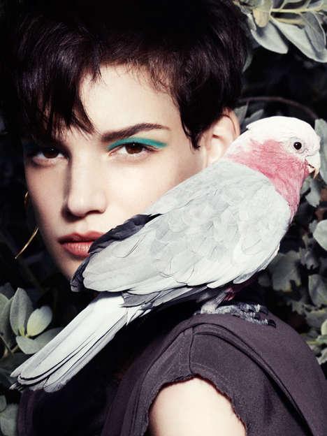 Bird-Watching Beauty Editorials
