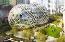 Arboreal Tech Company HQs - The Amazon Biosphere Office Would House People and Plants