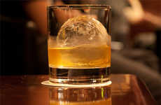 Spherical Drink Chillers - The Original Whisky Ball Melts Slow to Stop a Drink from Becoming Watery