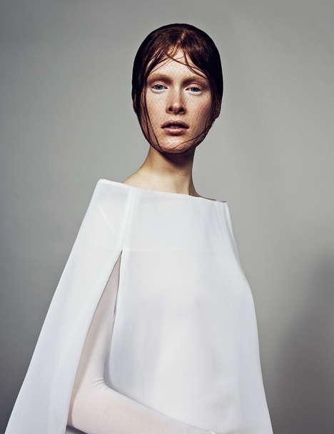 Waif-Like Alabaster Fashion