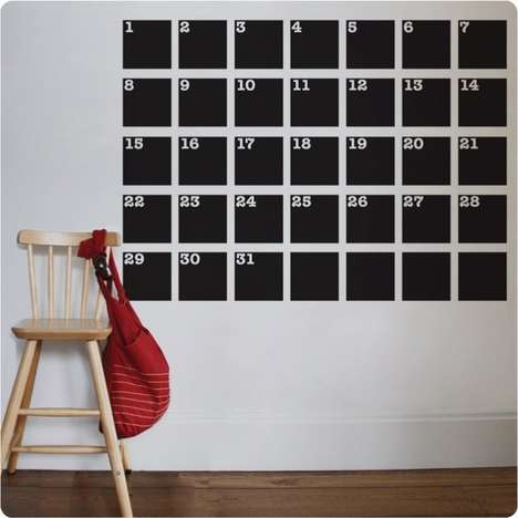 Oversized Date-Keeping Decals - Never Forget Another Important Date with the Chalk Talk Calendar