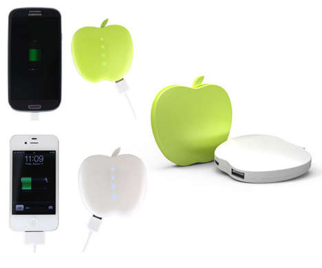 Sliced Fruit Power Sources - The Apelpi Opso Batteries Resemble a Juicy Apple Piece