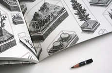 Graphite-Coveting Publications - The 'Tiny Pencil' Magazine Showcases Amazing Lead Art